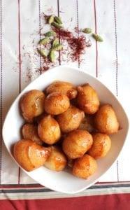 ramadan menu luqimat with corn starch