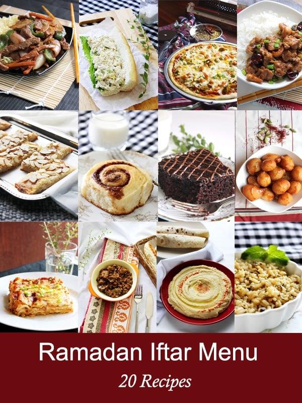 ramadan iftar menu