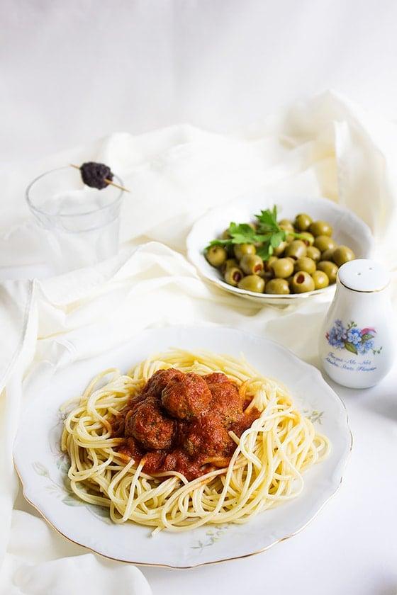 spaghetti and mini meatballs 2