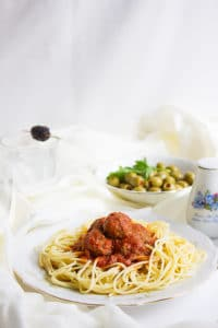 spaghetti and mini meatballs 5