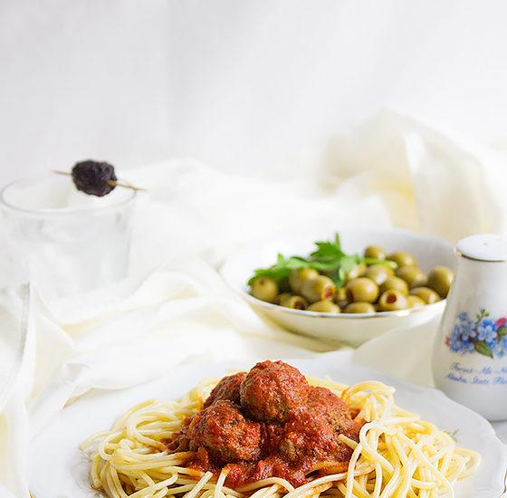 spaghetti and mini meatballs 5