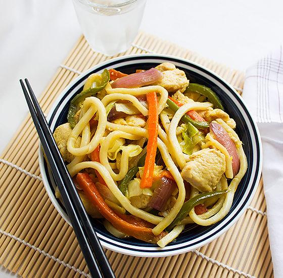 Chicken stir fry noodles 3