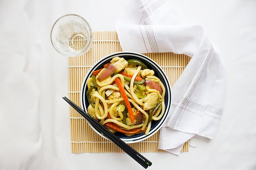 Chicken stir fry noodles 4