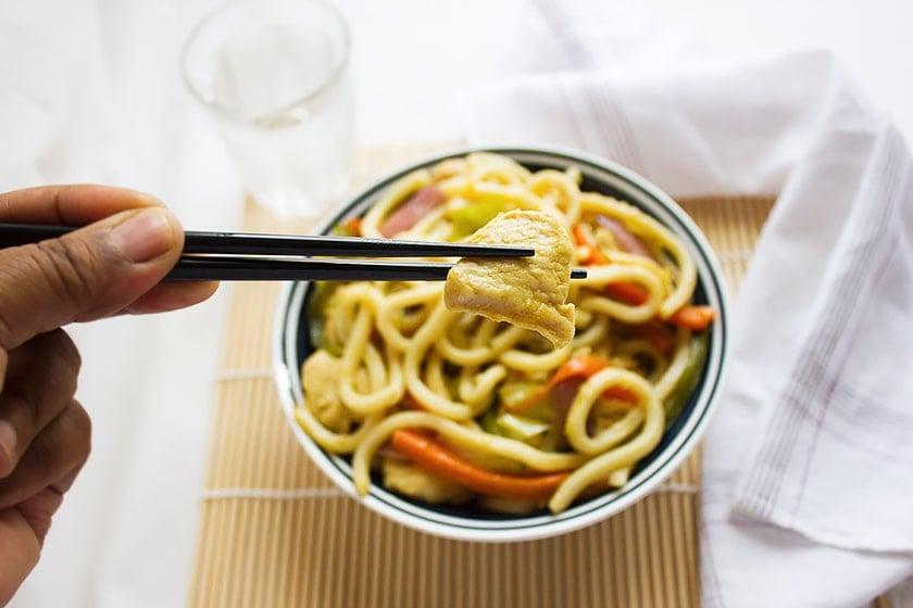 Chicken stir fry noodles 5