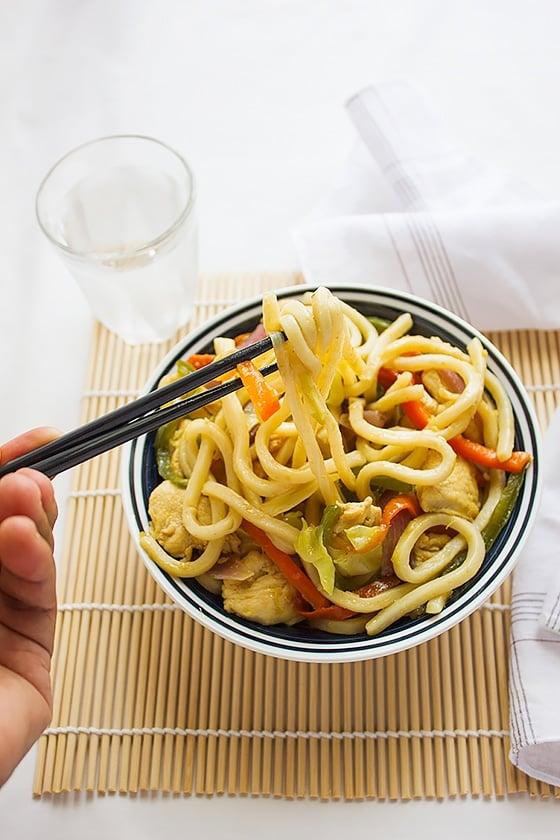 Chicken stir fry noodles 6