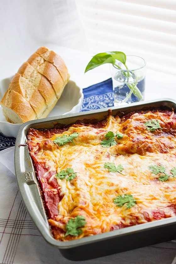 basic beef lasagna recipe side shot