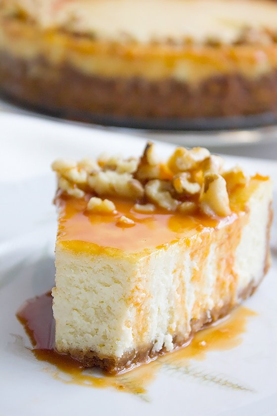 vanilla Cheesecake with Butterscotch Sauce 7