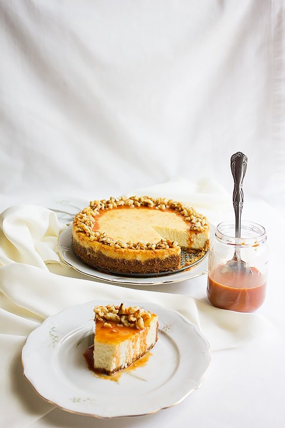 vanilla Cheesecake with Butterscotch Sauce 8