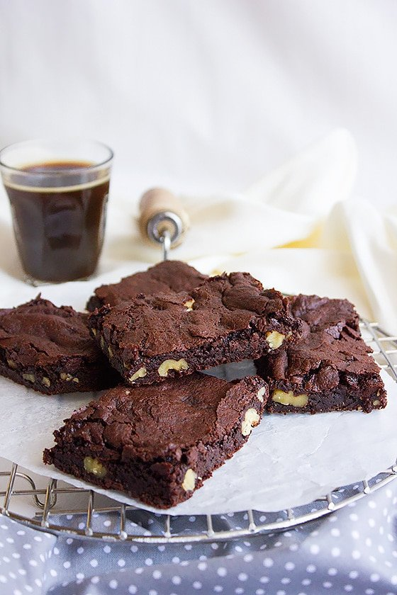 chewy egg free fudge brownies 2