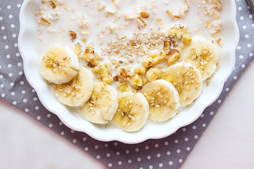 overnight banana oatmeal breakfast 4