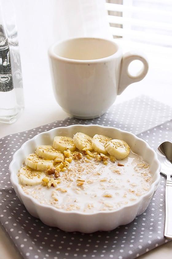 overnight banana oatmeal breakfast 5