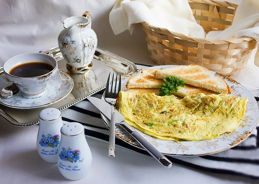 potato green onion omelet 1