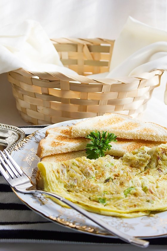 potato green onion omelet 4