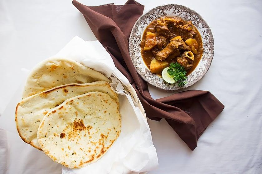 arabian lamb stew overhead shot