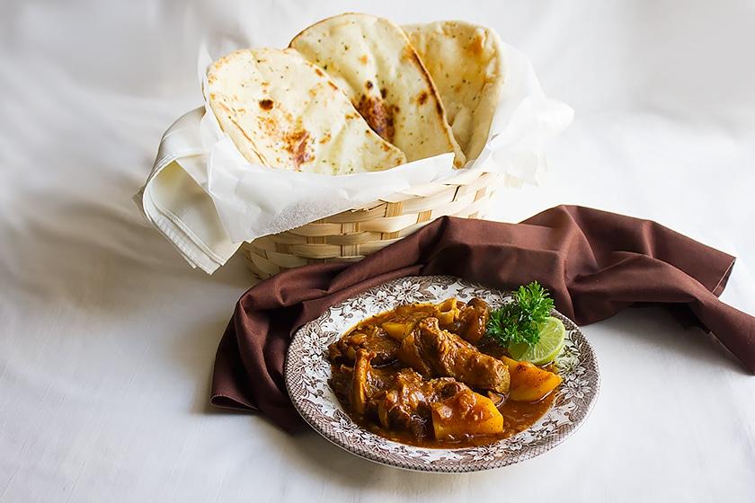 arabian lamb stew in a plate