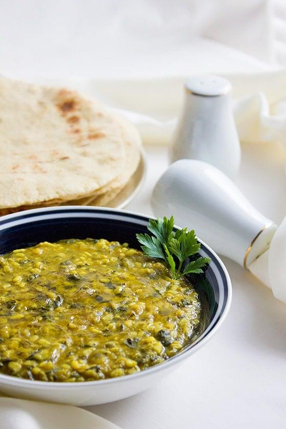 creamy spinach lentils 1