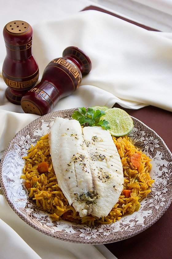 Baked Tilapia with Tomato Rice 6