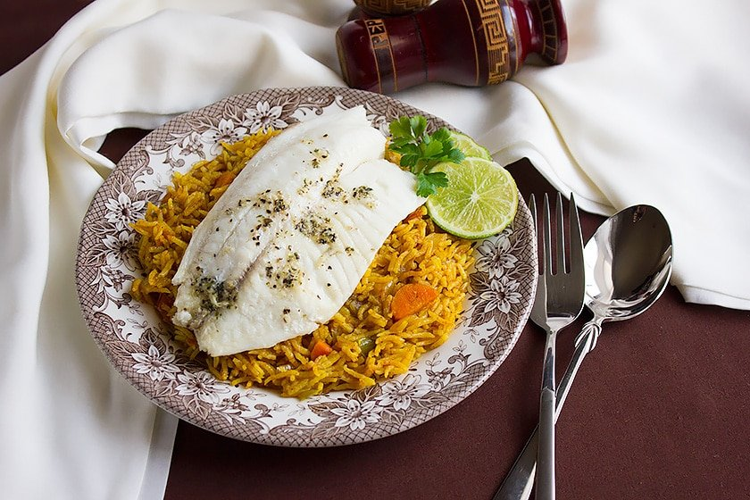 Baked Tilapia with Tomato Rice 7