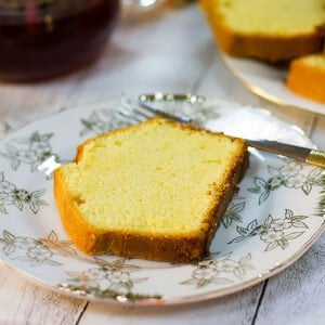 small image of a moist pound cake slice.
