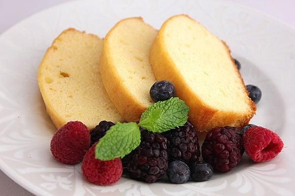 low calorie pound cake