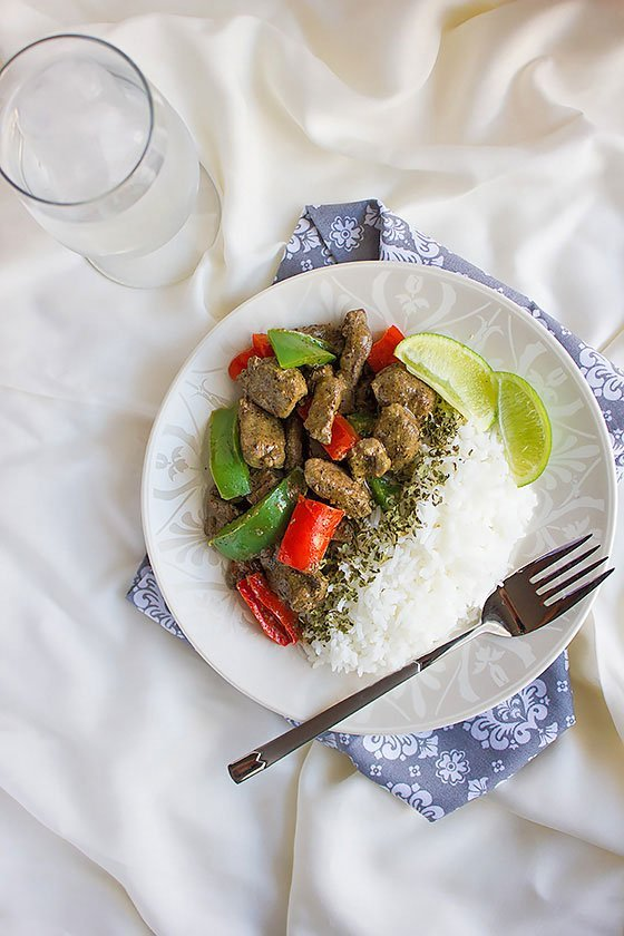 beef liver stir fry 1