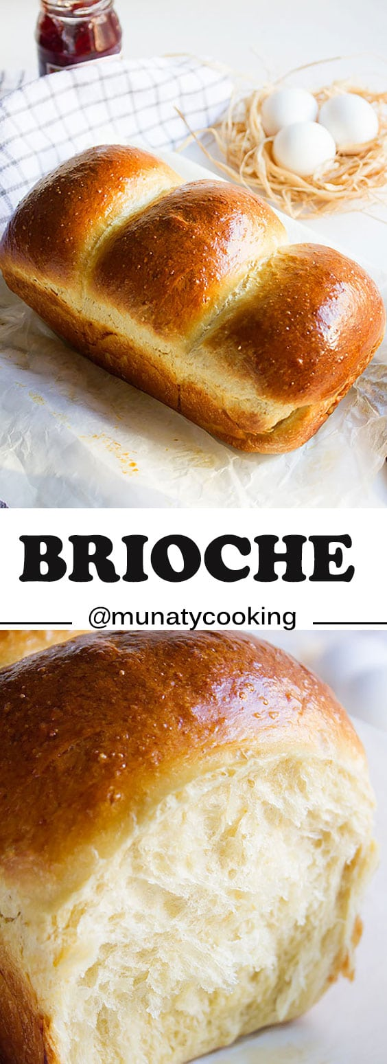 Brioche. Don't wait for hours to proof this beauty. Rich and impressive loaf and it's perfect for making bread pudding and French toast. www.munatycooking.com |@munatycooking #brioche