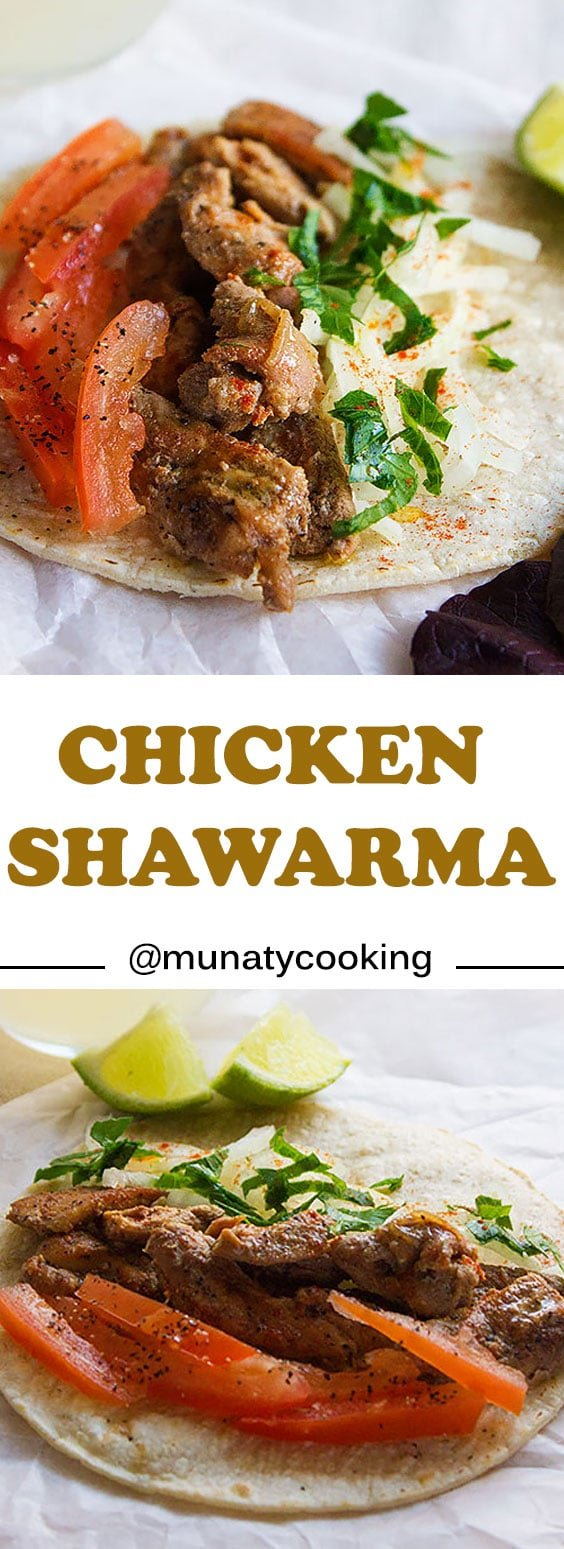 Chicken Shawarma. Make the best tasting shawarma in your kitchen. Juicy tender chicken with flavorful marinade. Surprise your family, show them that you can make better tasting shawarma than restaurants. www.munatycooking.com |@munatycooking #shawarma