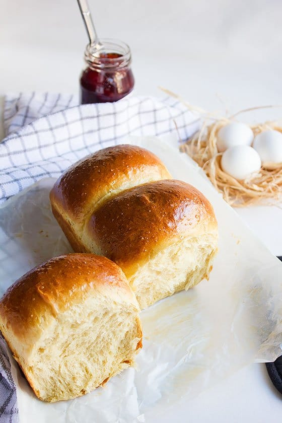 Quickly proofed brioche bread recipe. #brioche #breadrecipe #bakingbread #frenchbread