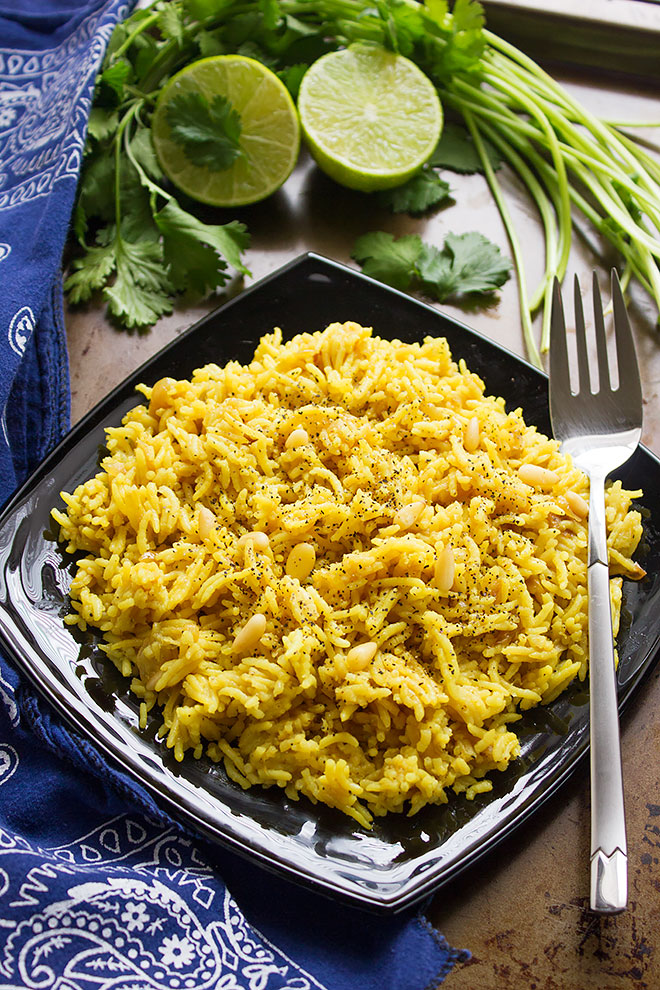 buttery-lime-rice overhead shot