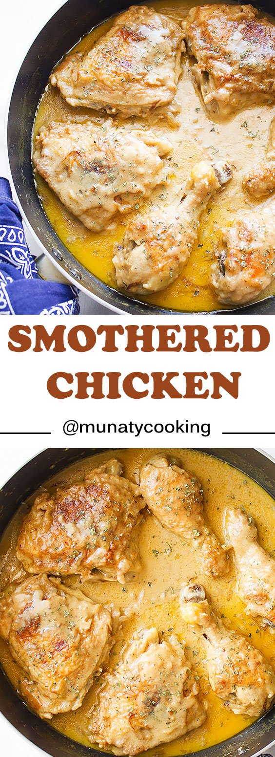 Smothered chicken a soul food munaty cooking smothered chicken you will love this smothered chicken recipe in this post i forumfinder Choice Image