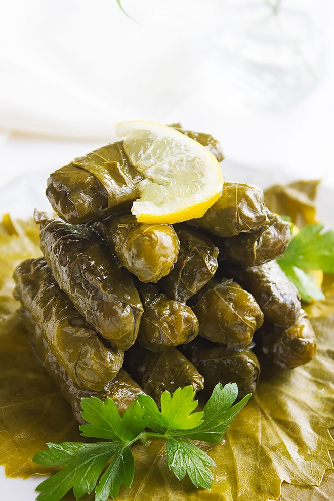stuffed grape leaves 3