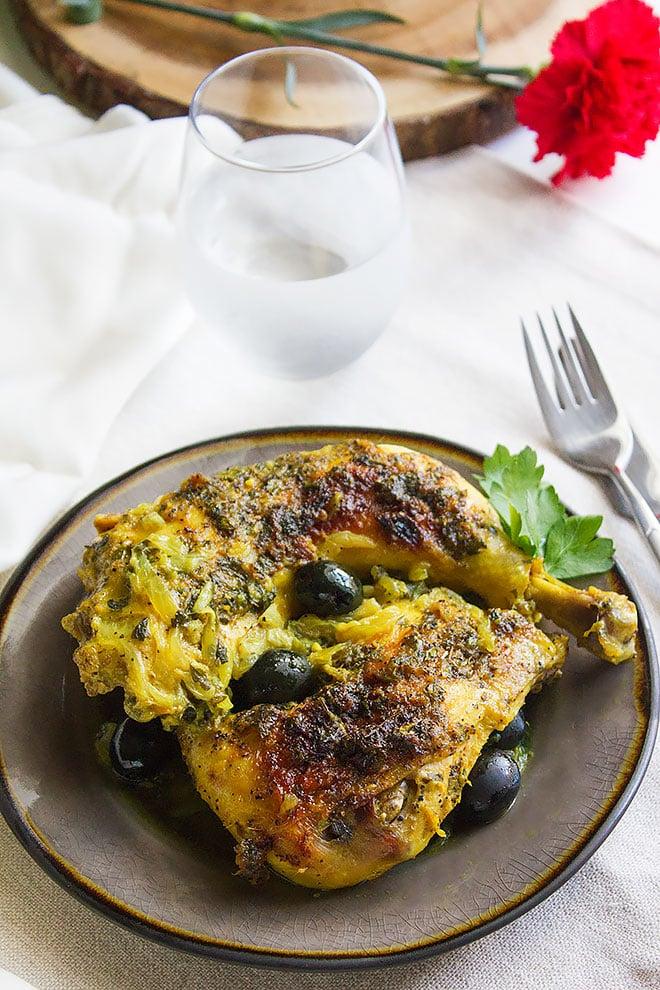 Moroccan Chicken Olive Stew 3