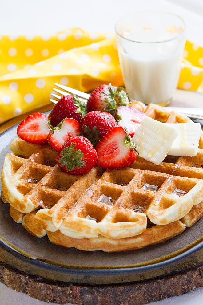 buttermilk fluffy waffles 1
