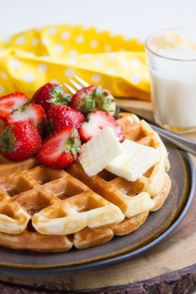 buttermilk fluffy waffles 2