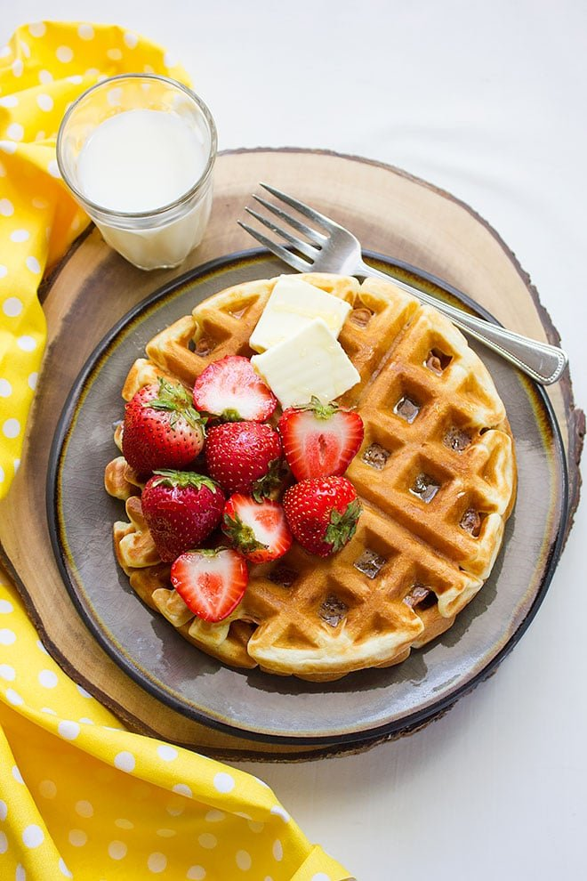 buttermilk fluffy waffles 4