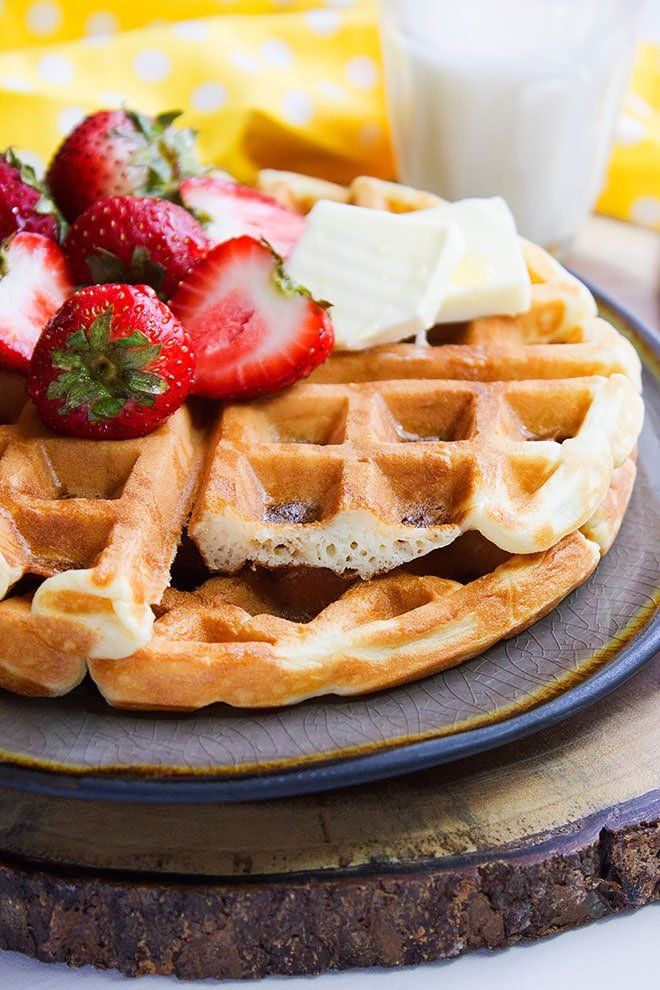 buttermilk fluffy waffles 5
