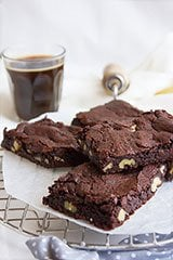 Chewy Egg Free Fudge Brownies
