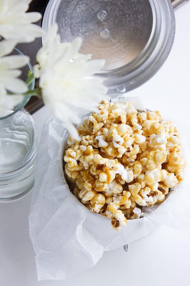 easy caramel popcorn 4