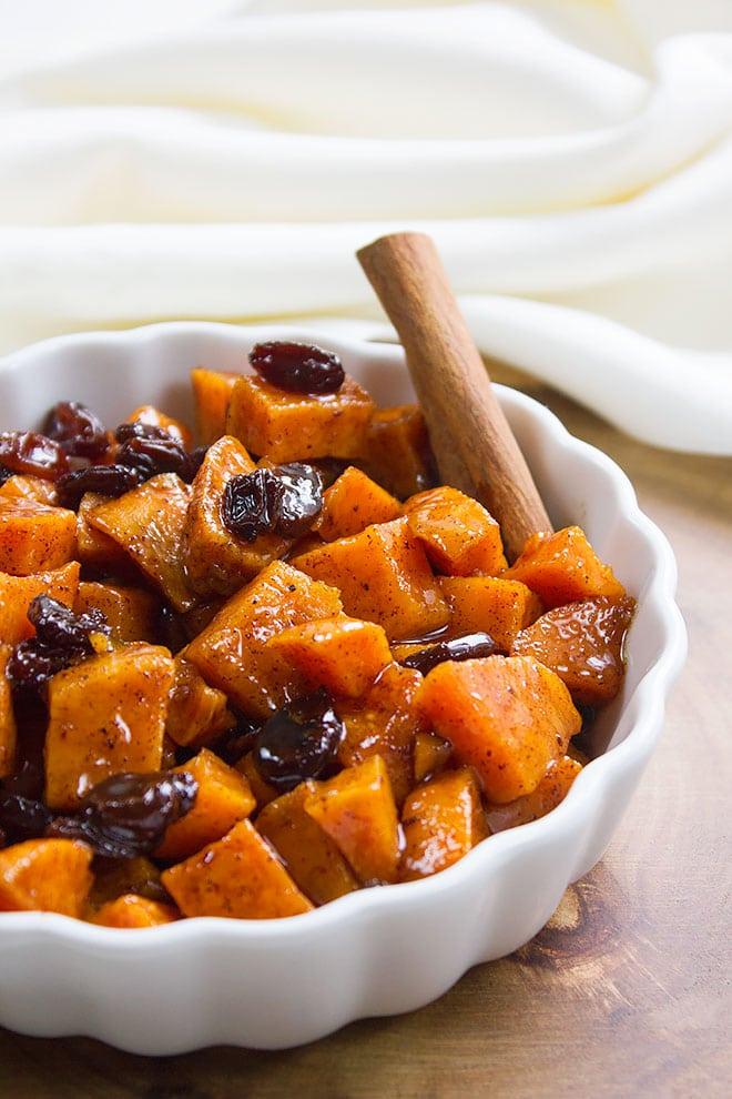 sweet potato raisin butter close up image