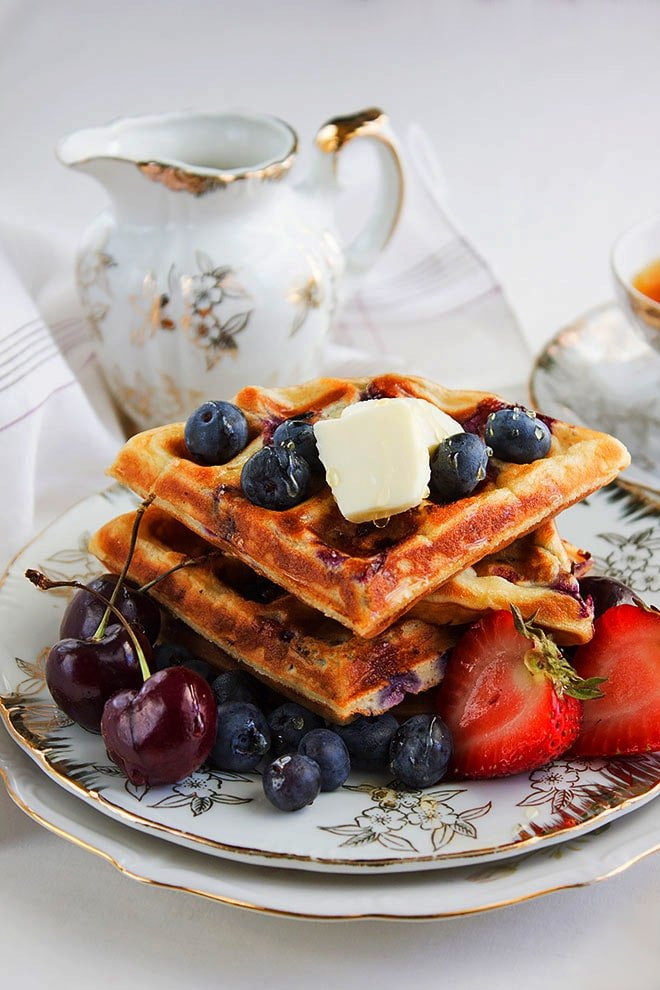 blueberry waffles 2