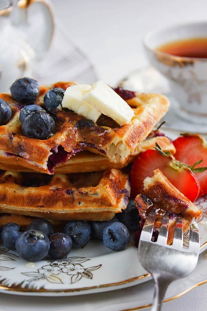 blueberry waffles 4