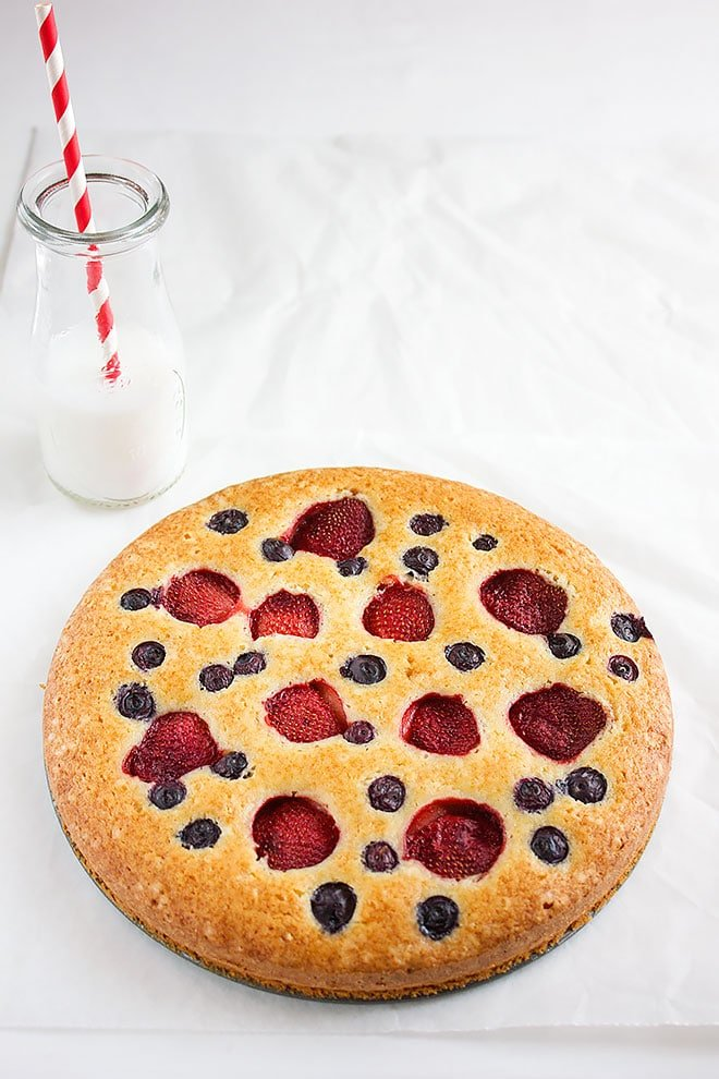 strawberry butter cake 1