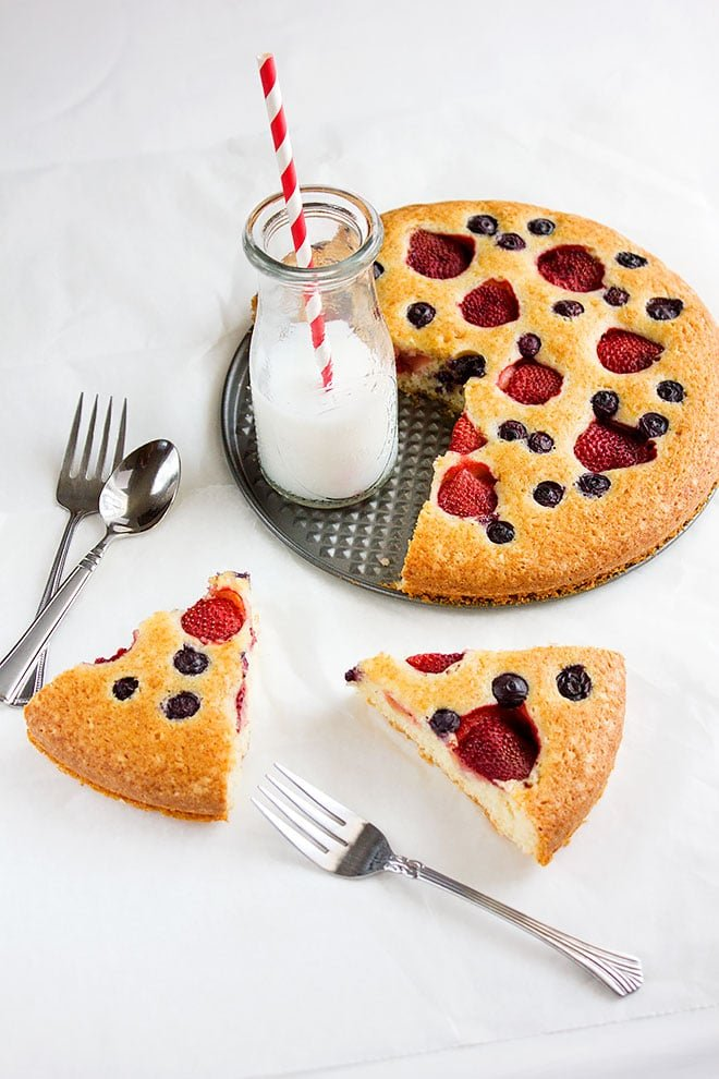 strawberry butter cake 2