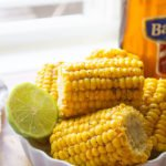 Corn on the cob. Cooking corn on the cob on stove top takes 5 minutes, and then brush it with butter and spice mixture while warm. This corn on the cob recipe will become your go-to recipe. Buttery, delicious, and tender, make some perfect corn on the cob today. www.munatycooking.com | @munatycooking