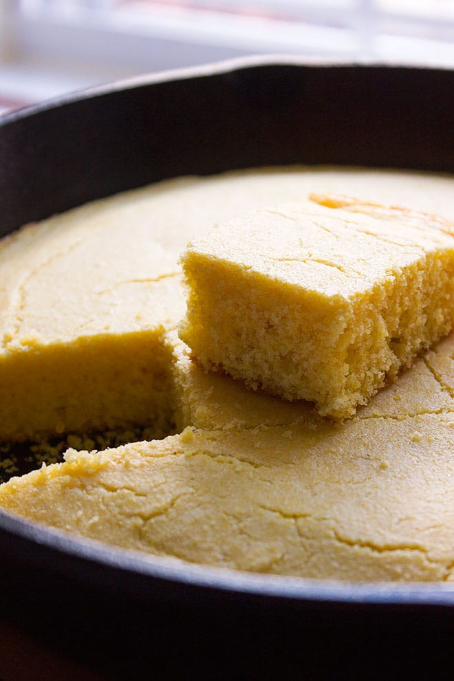 Southern Style Cornbread. This cornbread has a hint of sweetness, tender crumbs, and is perfect to use for cornbread dressing. Learn how to make cornbread from scratch. www.munatycooking.com | @munatycooking