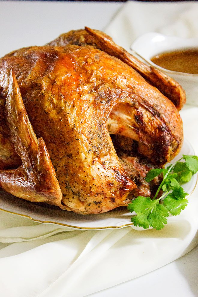 Roasting Frozen Turkey. Learn how to roast a frozen turkey while keeping it juicy and tender, plus the recipe for silky gravy made to match the great flavors from the turkey. Roast the perfect turkey. www.munatycooking.com | @munatycooking