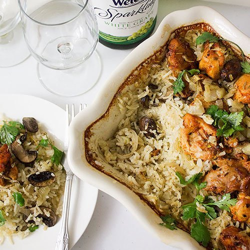 Feature image of Easy Chicken and Rice Casserole. Dinner made easy! This oven baked chicken and rice.