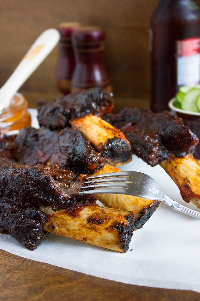 These Fall off the bone ribs are amazingly tender and full of flavor.