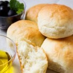 Featured image of no knead dinner rolls