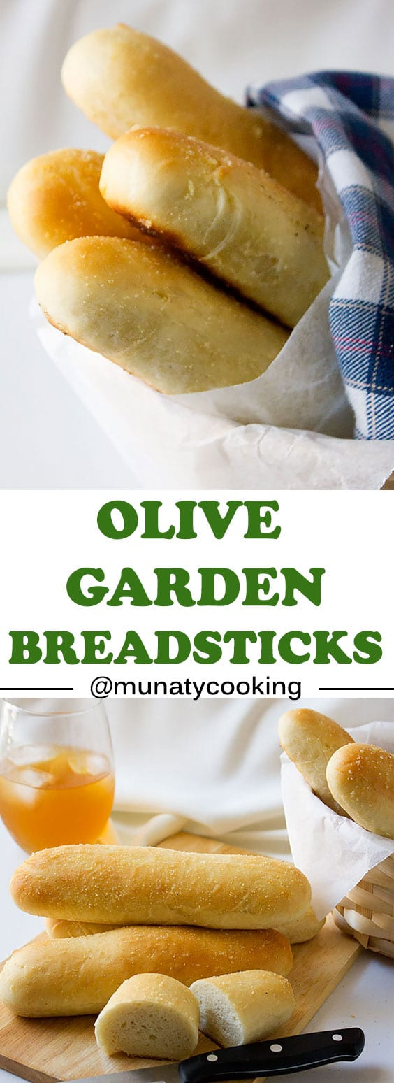 Olive Garden Breadsticks. These breadsticks taste just like the one at olive garden, light and delicious. Now you can make it and enjoy it any time you crave it. www.munatycooking.com | @munatycooking